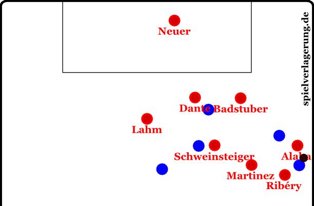 gegen Hannover, Szene bei 09:46