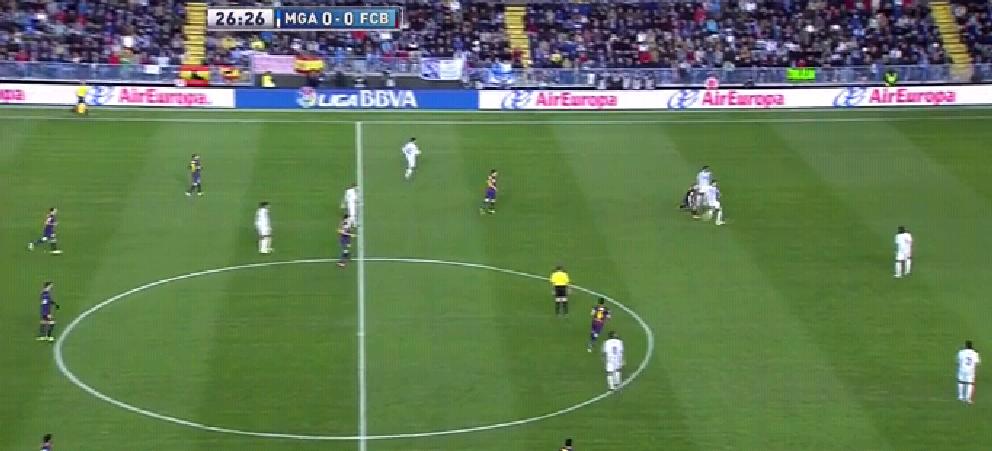 Malaga hat den Ball, es steht gleich 0:1