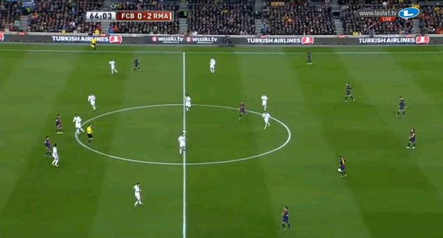 Das 4-4-2 Reals sieht man hier besser; mit Ronaldo in der Mitte.