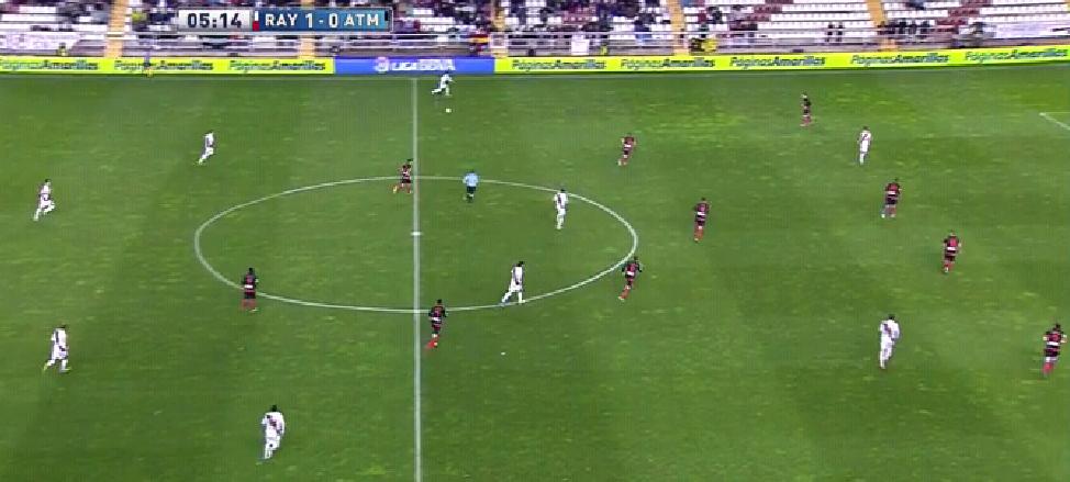 Atléticos 4-3-2-1, welches auch etwas asymmetrisch ausgelegt war.