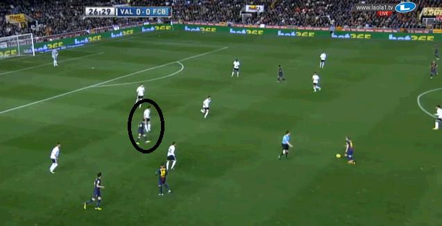 Manndeckung auf Messi