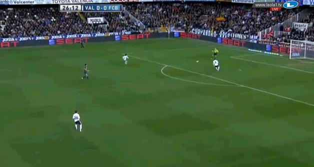 Valencia im hohen Pressing - es ging bis zum Torwart