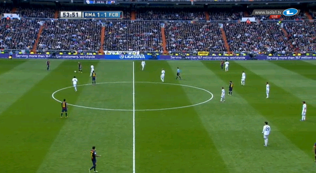 Real im 4-4-2-Pressing.