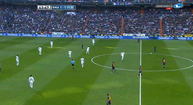 Real im 4-5-1, Modric etwas tiefer.