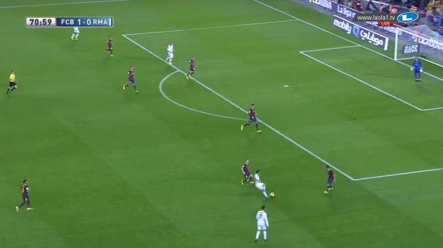 Hier sehen wir Staffelungsprobleme in der Defensive beim FC Barcelona und offensive bei Real Madrid, welche wichtige Zonen unbesetzt lassen (Halbraum, Mitte).