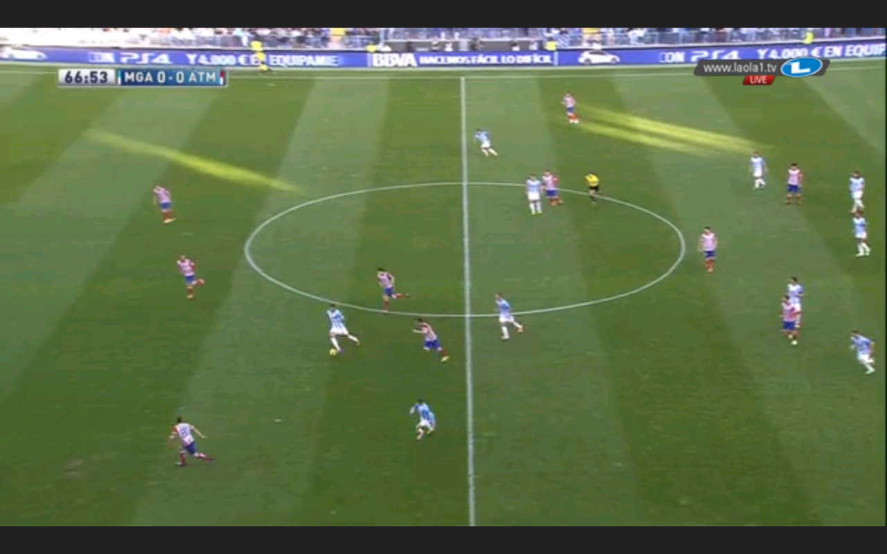 Atlético im asymmetrischen 4-4-2