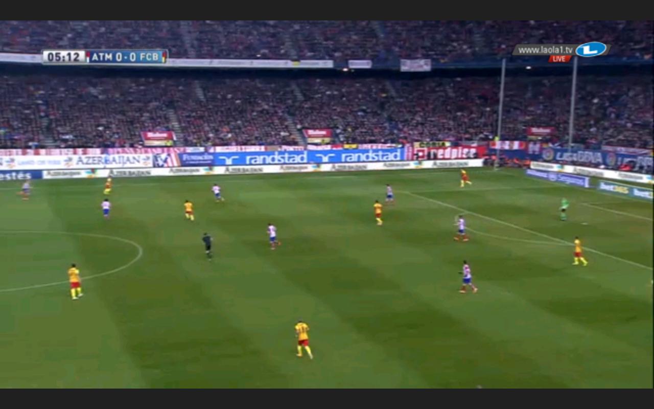 Atlético im höheren Pressing