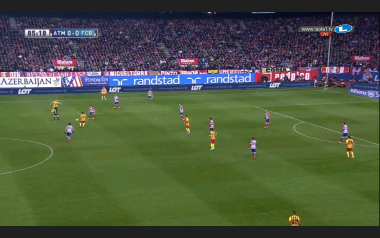 Neue Staffelung Barcelonas in der Endphase