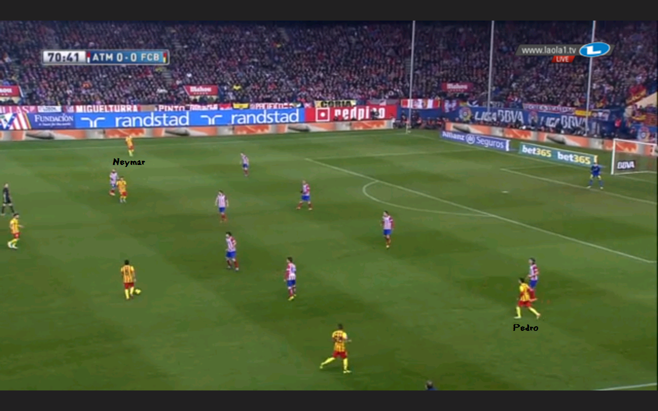 Neue Staffelung Barcelonas im 4-2-4 und mit Neymar dann.
