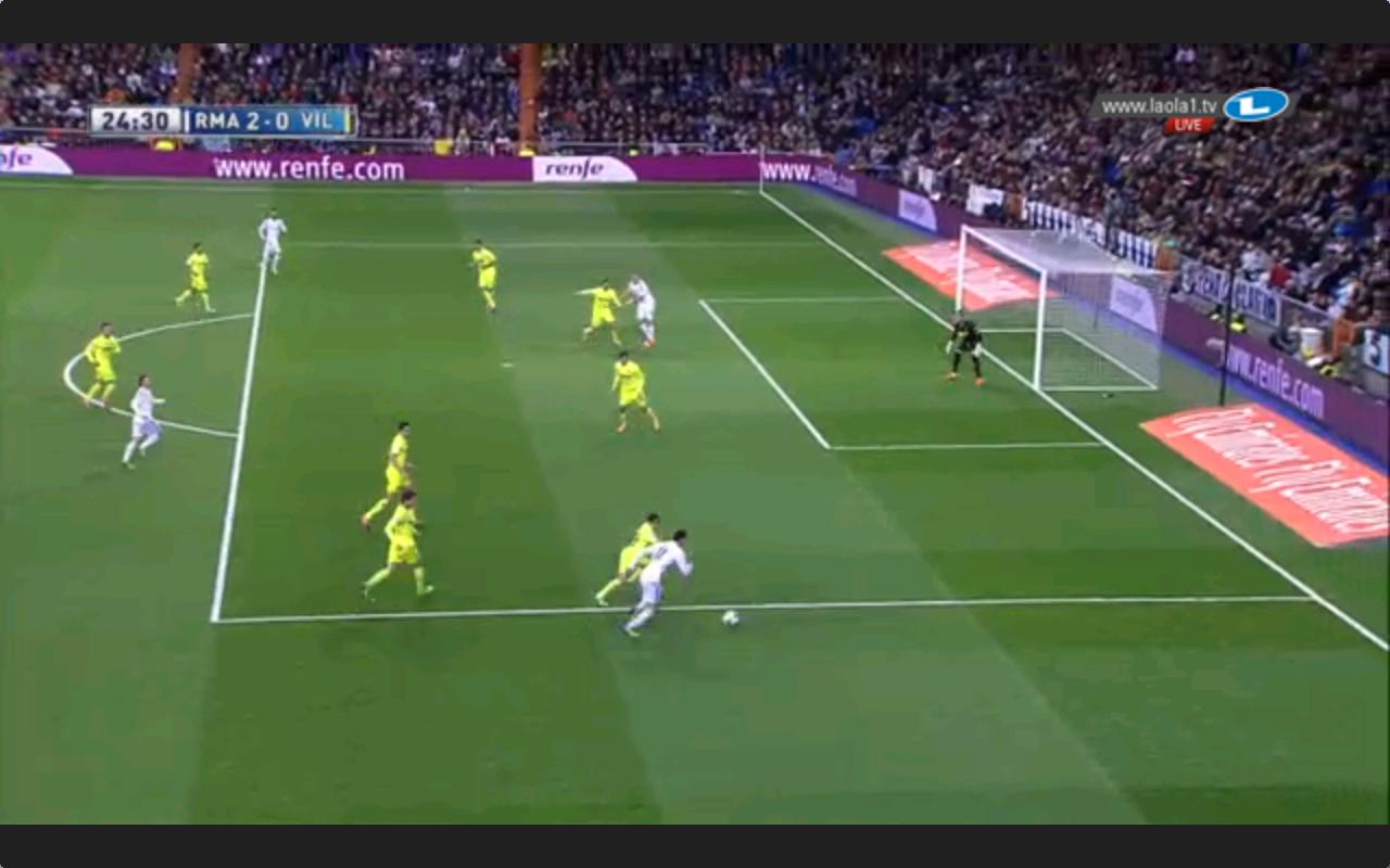 Bales Dribbling zum 2-0; armer Verteidiger.