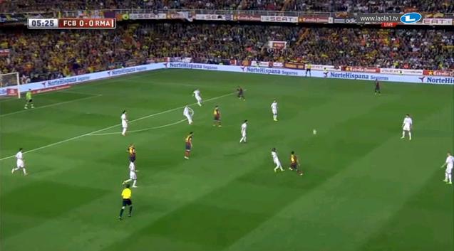 Barcelona im 2-1-1-6 aus einem 4-2-4 heraus