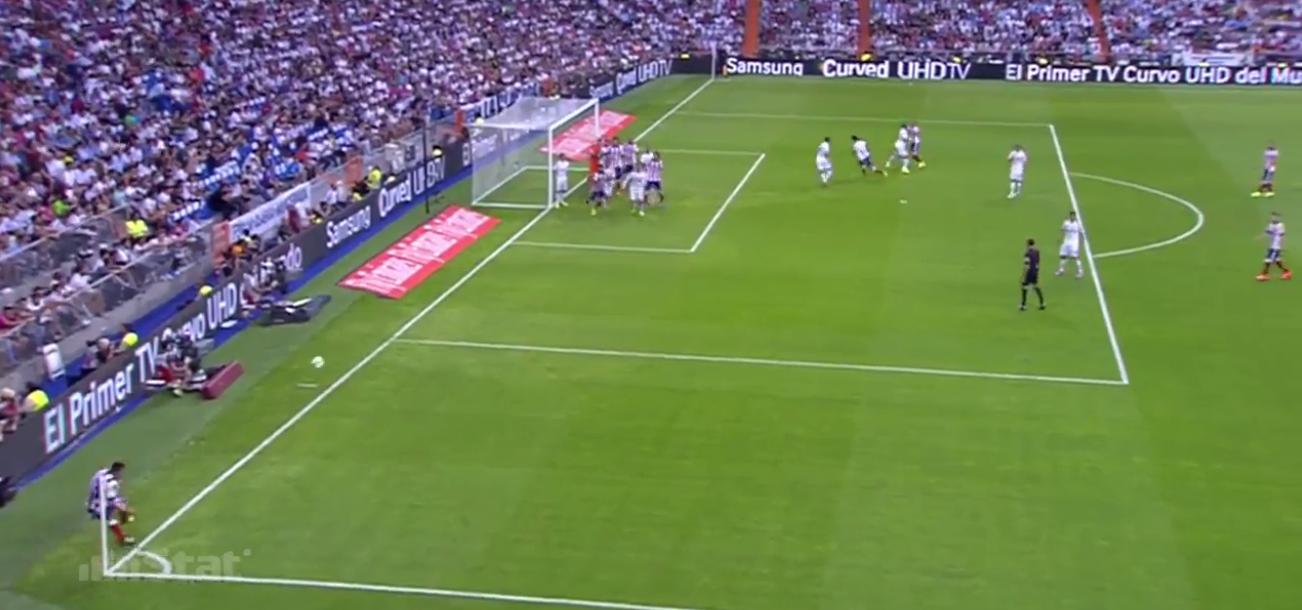 Atleticos Ecke zum 1-0