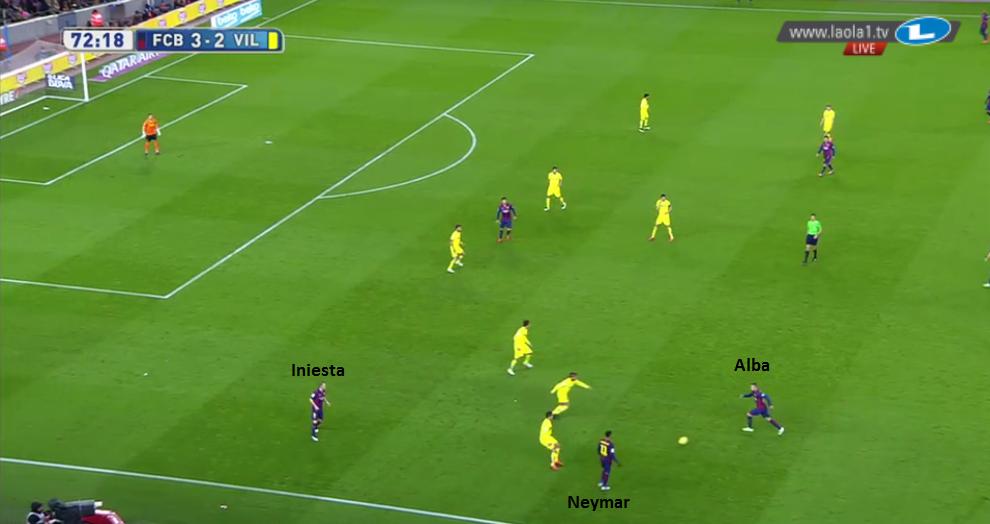 Iniesta macht sich breit für Alba.
