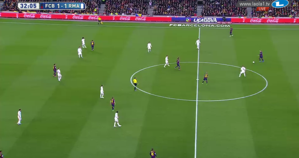 Herausrücken und Messi vs Marcelo, CR breit
