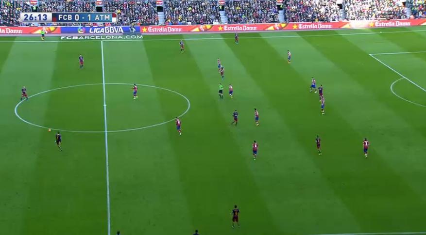 Tiefere Ausrichtung nach der Anfangsphase bei Atlético