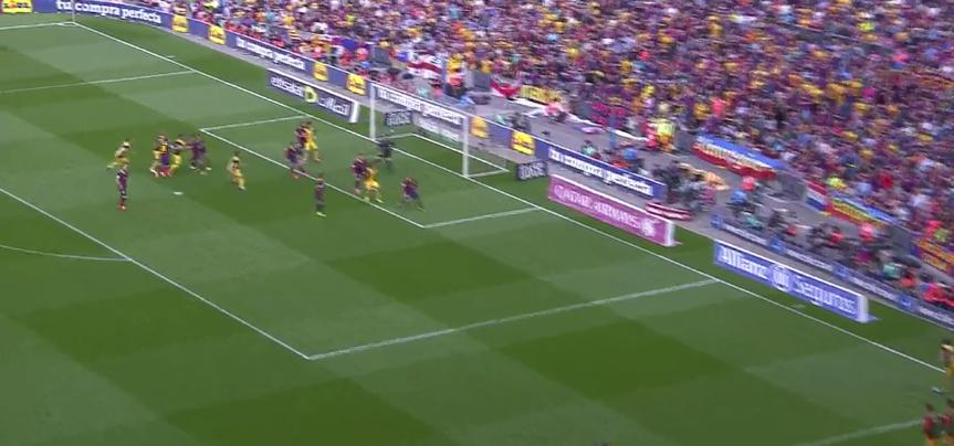 Godin trifft gegen Barcelona. Eine Woche später erzielt er auch ein Tor im CL-Finale.