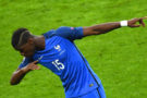 France's midfielder Paul Pogba celebrates after scoring his team's second goal  during the Euro 2016 quarter-final football match between France and Iceland at the Stade de France in Saint-Denis, near Paris, on July 3, 2016.  / AFP / Francisco LEONG        (Photo credit should read FRANCISCO LEONG/AFP/Getty Images)
